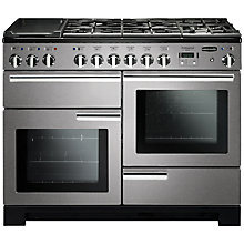 Buy Rangemaster Professional 110 Deluxe Dual Fuel Range Cooker and LEIHDC110SC Chimney Cooker Hood, Stainless Steel Online at johnlewis.com