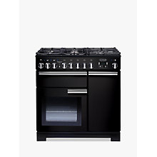 Buy Rangemaster Professional 90 Deluxe Dual Fuel Range Cooker and LEIHDC90BC Chimney Cooker Hood, Black Online at johnlewis.com