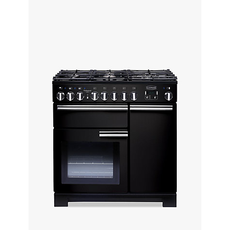 Buy Rangemaster Professional 90 Deluxe Dual Fuel Range Cooker, Black Online at johnlewis.com