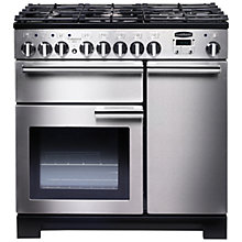 Buy Rangemaster Professional 90 Deluxe Dual Fuel Range Cooker and LEIHDC90SC Chimney Cooker Hood, Stainless Steel Online at johnlewis.com