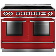 Buy Falcon 1092 Continental Induction Hob Range Cooker, Cherry Red Online at johnlewis.com