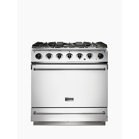 Buy Falcon 900S Dual Fuel Range Cooker, White Online at johnlewis.com