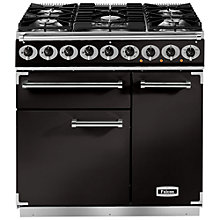 Buy Falcon 900 Deluxe Dual Fuel Range Cooker, Matt Black Online at johnlewis.com