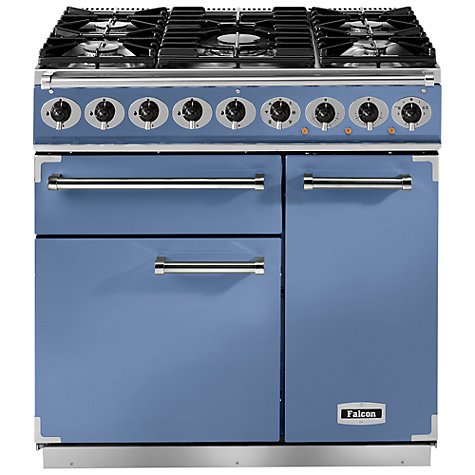 Buy Falcon 900 Deluxe Dual Fuel Range Cooker, China Blue Online at johnlewis.com