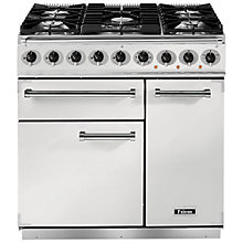 Buy Falcon 900 Deluxe Dual Fuel Range Cooker, White Online at johnlewis.com