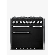 Buy Mercury MCY1000DFAB Dual Fuel Range Cooker, Black Online at johnlewis.com