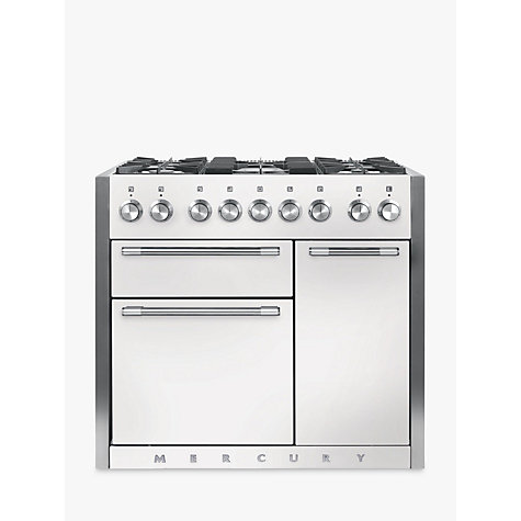 Buy Mercury MCY1000DFSD Dual Fuel Range Cooker, White Online at johnlewis.com