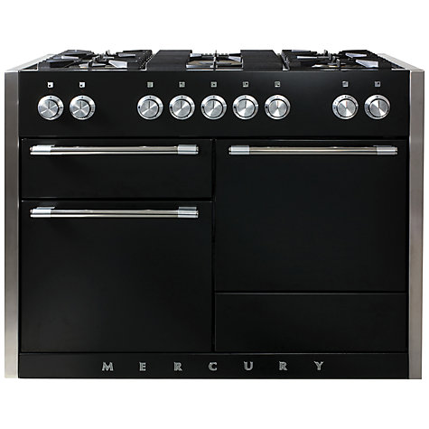 Buy Mercury MCY1200DFAB Dual Fuel Range Cooker, Black Online at johnlewis.com