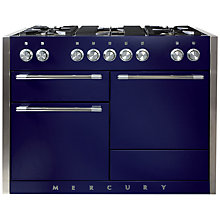 Buy Mercury MCY1200DFBB Dual Fuel Range Cooker, Blue Online at johnlewis.com