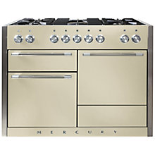 Buy Mercury MCY1200DFOY Dual Fuel Range Cooker, Cream Online at johnlewis.com