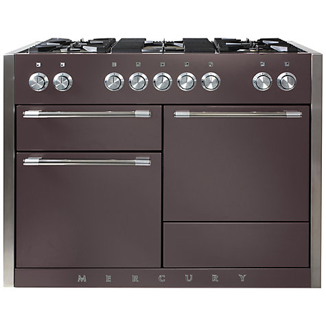 Buy Mercury MCY1200DFPH Dual Fuel Range Cooker, Purple Online at johnlewis.com