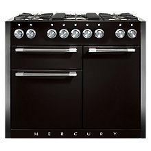 Buy Mercury MCY1082DFAB Dual Fuel Range Cooker, Black Online at johnlewis.com