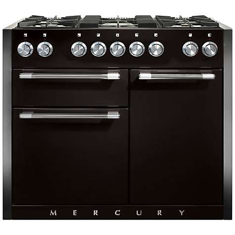 Buy Mercury MCY1082DFLQ Dual Fuel Range Cooker, Liquorice Black Online at johnlewis.com