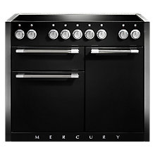 Buy Mercury MCY1082EIAB Induction Hob Electric Range Cooker, Black Online at johnlewis.com