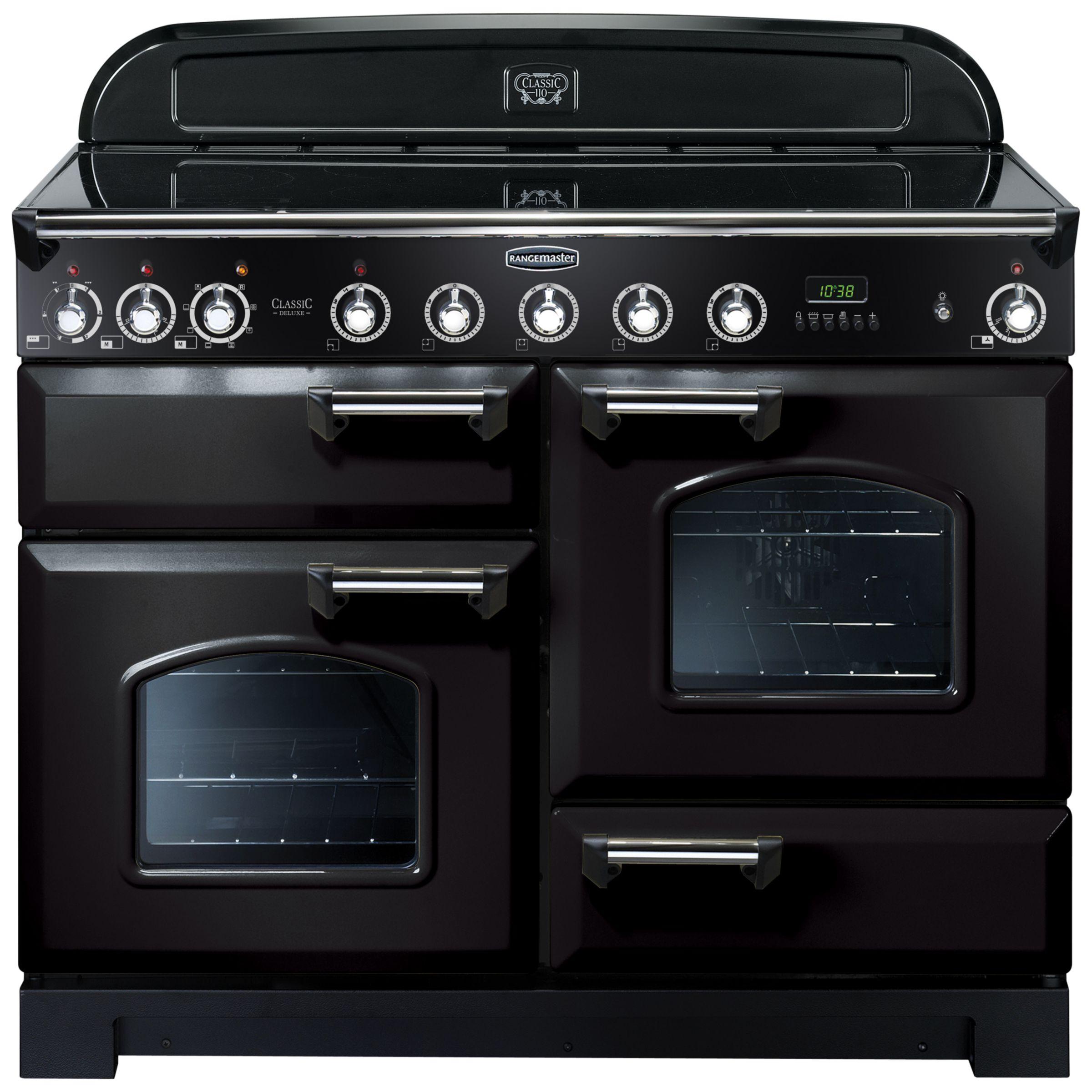 Rangemaster Classic Deluxe 110 Induction Hob Range Cooker Black