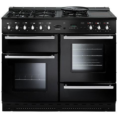 Buy Rangemaster Toledo 110 Dual Fuel Range Cooker, Gloss Black Online at johnlewis.com