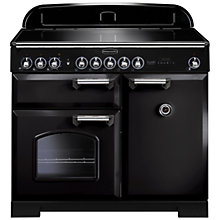 Buy Rangemaster Classic Deluxe 100 Induction Hob Range Cooker and LEIHDC110BC Chimney Cooker Hood, Black Online at johnlewis.com