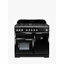 Buy Rangemaster Classic Deluxe 100 Dual Fuel Range Cooker and LEIHDC110BC Chimney Cooker Hood, Black Online at johnlewis.com