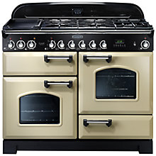 Buy Rangemaster Classic Deluxe 110 Dual Fuel Range Cooker and LEIHDC110CR/C Chimney Cooker Hood, Cream Online at johnlewis.com