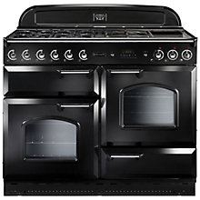 Buy Rangemaster Classic 110 Gas Range Cooker, Natural Gas and LEIHDC110BC Chimney Cooker Hood, Black Online at johnlewis.com