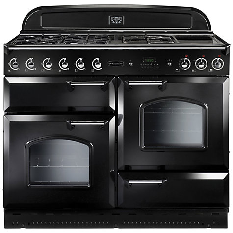Buy Rangemaster Classic 110 Gas Range Cooker, Natural Gas, Black Online at johnlewis.com