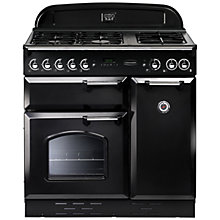 Buy Rangemaster Classic 90 Gas Range Cooker, Natural Gas and LEIHDC90BC Chimney Cooker Hood, Black Online at johnlewis.com