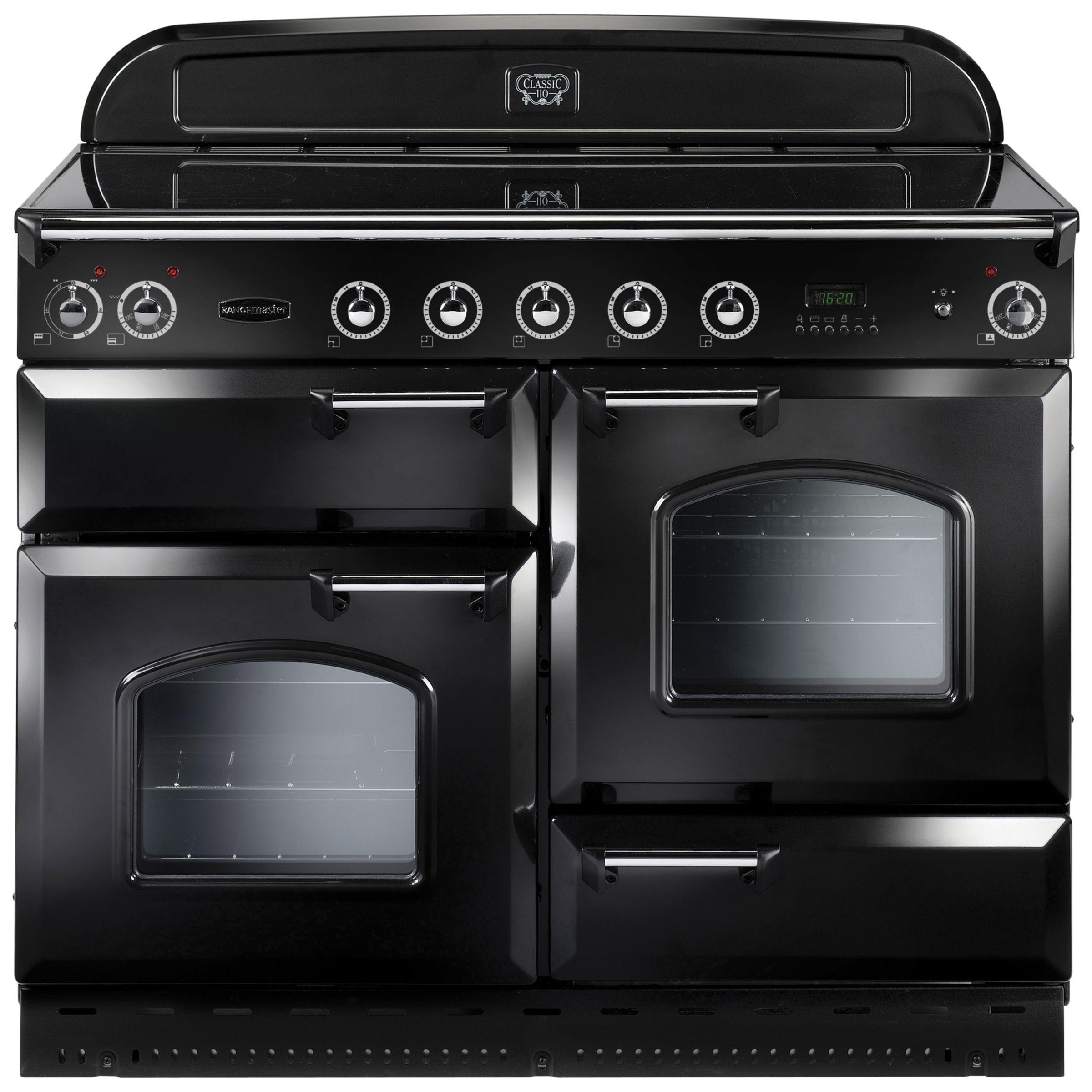 Rangemaster Classic 110 Induction Hob Range Cooker Black