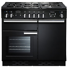 Buy Rangemaster Professional + 100 Dual Fuel Range Cooker, Black Online at johnlewis.com