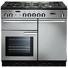 Buy Rangemaster Professional + 100 Dual Fuel Range Cooker, Stainless Steel Online at johnlewis.com