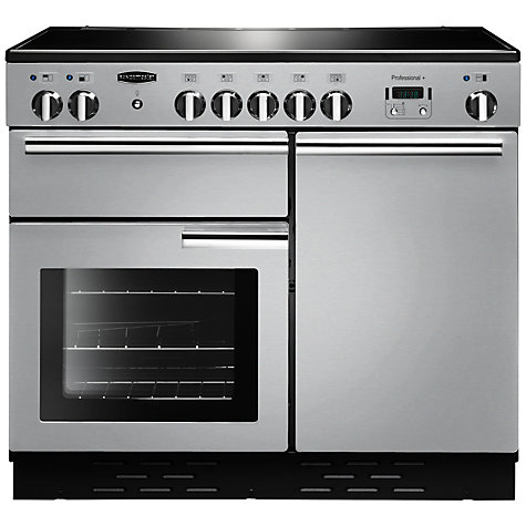 Buy Rangemaster Professional + 100 Induction Hob Range Cooker, Stainless Steel Online at johnlewis.com
