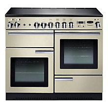 Buy Rangemaster Professional + 110 Electric Range Cooker and  LEIHDC110CR/C Chimney Cooker Hood, Cream Online at johnlewis.com
