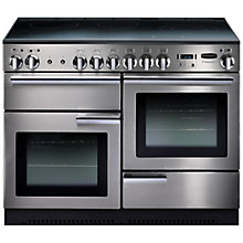 Buy Rangemaster Professional + 110 Electric Range Cooker and LEIHDC110SC Chimney Cooker Hood, Stainless Steel Online at johnlewis.com
