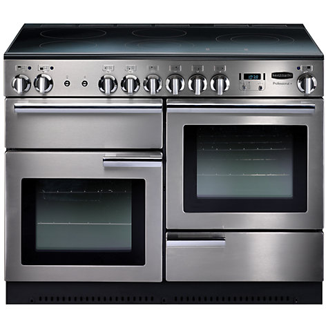 Buy Rangemaster Professional + 110 Electric Range Cooker, Stainless Steel Online at johnlewis.com