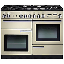 Buy Rangemaster Professional + 110 Dual Fuel Range Cooker and LEIHDC110CR/C Chimney Cooker Hood, Cream Online at johnlewis.com