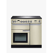 Buy Rangemaster Professional + 90 Electric Range Cooker and LEIHDC90CR/C Chimney Cooker Hood, Cream Online at johnlewis.com
