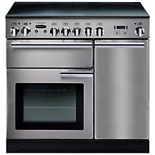 Buy Rangemaster Professional + 90 Electric Range Cooker and LEIHDC90SC Chimney Cooker Hood, Stainless Steel Online at johnlewis.com