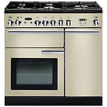 Buy Rangemaster Professional + 90 Dual Fuel Range Cooker and LEIHDC90CR/C Chimney Cooker Hood, Cream Online at johnlewis.com