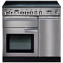 Buy Rangemaster Professional + 90 Induction Hob Range Cooker and LEIHDC90SC Chimney Cooker Hood, Stainless Steel Online at johnlewis.com