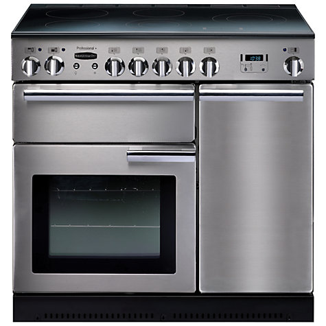 Buy Rangemaster Professional + 90 Induction Hob Range Cooker, Stainless Steel Online at johnlewis.com