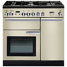 Buy Rangemaster Professional+ 90 Gas Range Cooker and LEIHDC90CR/C Chimney Cooker Hood, Cream Online at johnlewis.com