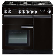 Buy Rangemaster Professional+ 90 Gas Range Cooker and LEIHDC90BC Chimney Cooker Hood, Black Online at johnlewis.com