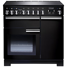 Buy Rangemaster Professional Deluxe 90 Induction Hob Range Cooker and LEIHDC90BC Chimney Cooker Hood, Black Online at johnlewis.com