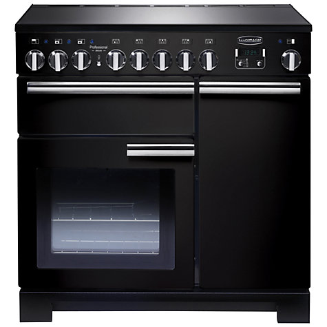 Buy Rangemaster Professional Deluxe 90 Induction Hob Range Cooker, Black Online at johnlewis.com