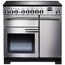 Buy Rangemaster Professional Deluxe 90 Induction Hob Range Cooker and LEIHDC90SC Chimney Cooker Hood, Stainless Steel Online at johnlewis.com