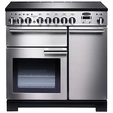 Buy Rangemaster Professional Deluxe 90 Induction Hob Range Cooker, Stainless Steel Online at johnlewis.com
