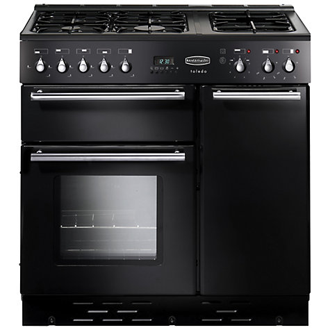 Buy Rangemaster Toledo 90 Dual Fuel Range Cooker, Gloss Black Online at johnlewis.com
