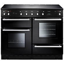 Buy Rangemaster Toledo 110 Induction Hob Range Cooker, Gloss Black and Cooker Hood, Stainless Steel/Glass Online at johnlewis.com