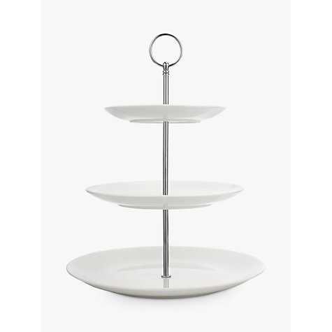 Buy John Lewis Luna 3 Tier Cake Stand, White Online at johnlewis.com