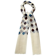 Buy White Stuff Spotted Scarf, Off White Online at johnlewis.com