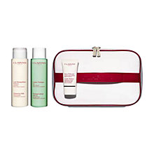 Buy Clarins Cleanser Toner and Scrub Skincare Set, Combination/Oily Online at johnlewis.com
